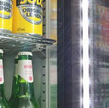 glass door bar fridge football club weg art branded skinny commercial bar fridge