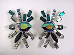 clip on earrings s helen multi colored statement clip on earrings 2017 swarovski