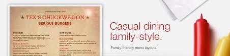 pages menu template family restaurant menu template