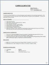 Sap Abap Sample Resume by Download Resume Formats Fresher Engineer Resume Format Free