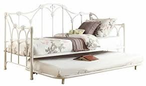 amazon com homelegance 4961db nt metal daybed with trundle white