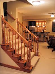 Finish Basement Stairs Finished Basement Stair Ideas Easy And Cheap Basement Stair Ideas