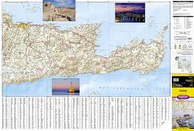 Crete Map Crete Greece National Geographic Adventure Map National