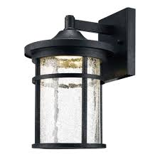 home decorators collection aged iron outdoor led wall lantern with