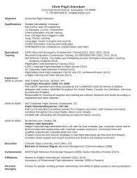 Resume Affiliations Professional Flight Attendant Resume Template