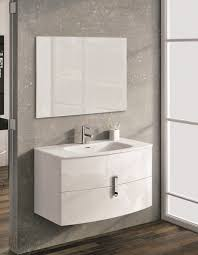 39 inch modern wall mount bathroom vanity white finish