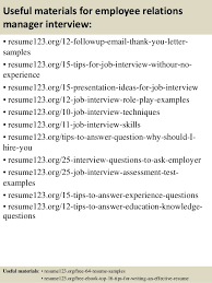 Relationship Resume Examples by Top10employeerelationsspecialistinterviewquestionsandanswers
