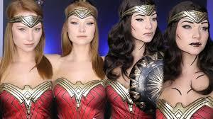 Wonder Woman Makeup For Halloween by Wonder Woman Makeup Tutorial 4 Different Ways Youtube