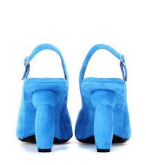 dries van noten suede pumps blue women cv1oky7u 522 153 00