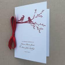 wedding booklet templates programs print