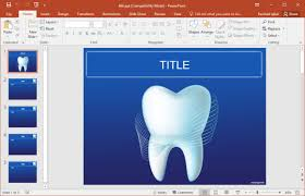 free dental powerpoint templates