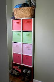 entry shelves aka where i put all of the recovered bins cottage4c