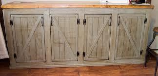 Barn Door Cabinets White Scrapped The Sliding Barn Doors Rustic Cabinet Doors