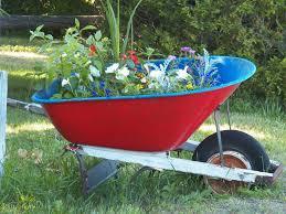 wheelbarrow full of flowers free stock photo public domain pictures
