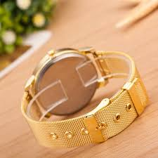 quartz bracelet wrist watches images Wish luxury fashion women crystal gold stainless steel quartz jpg