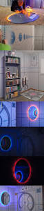 video game console cabinet with led lights via reddit user