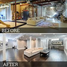 10 inspirational basement remodels before after for basement