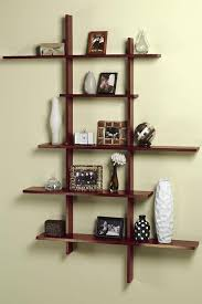 Modern Wall Mounted Shelves Remodel Ideas For Small Kitchens Tall Contemporary Display Shelf