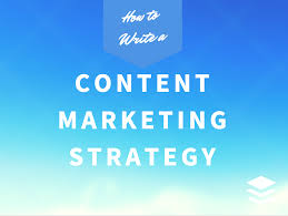 how to write a content marketing strategy w template