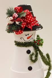 clay pot snowman by linda a c moore waldorf md claypot craft