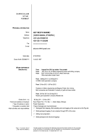sample resume for machine operator abiy cv 2015