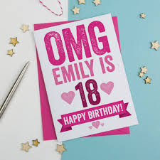 omg personalised 18th birthday card by a is for alphabet