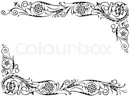 design frame with with black swirling decorative floral elements