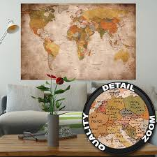 World Map On Wood Planks by Amazon Ca Wallpaper Painting Supplies U0026 Wall Treatments Tools