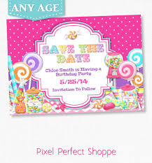 save the date birthday cards items similar to sweet shoppe save the date candyland gum