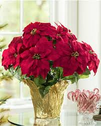 Home Decorating Plants Silk Poinsettia Plants For Office U0026 Home Decorating At