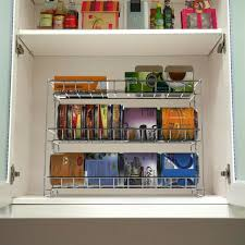 kitchen food storage cupboard stackable metal can organizer rack for pantry cupboard cabinet kitchen storage