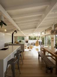 Living Spaces Kitchen Tables by Wood Slat Home With Utterly Open Living Spaces