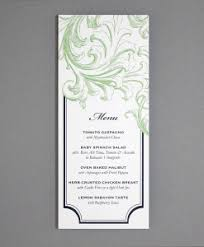 tea length wedding programs menus print