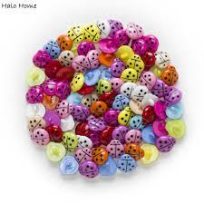 aliexpress com buy 50pcs mixed shank ladybug resin buttons home