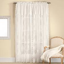Lace Curtains Carly Lace Panels With Attached Valances Ivory Set Of 2