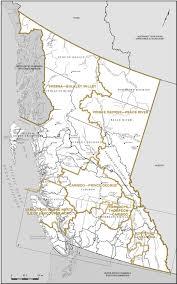 Map Of British Columbia Canada by Proposed Boundaries U2013 British Columbia Redistribution Federal