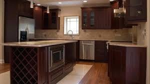 dark cherry cabinet kitchen designs design cabinets wall color