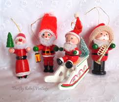 a vintage cast of ornament characters thrifty rebel vintage