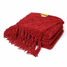 chenille throws for sofas amazon com decorative chenille thick couch throw blanket with