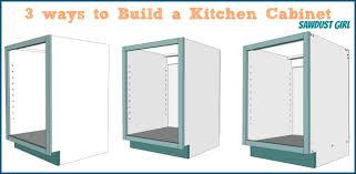Three Ways To Build A Basic Kitchen Cabinet Sawdust Girl - Kitchen cabinets diy plans