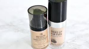 makeup forever airbrush mufe hd foundation dupe revlon airbrush effect foundation review