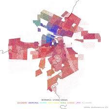 Canada City Map by Dot Density Map Of Winnipeg Canada Urbanmovements