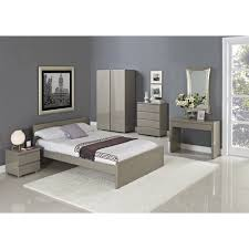 Grey Gloss Bedroom Furniture Lpd Furniture Puro Stone High Gloss Bed Leader Stores