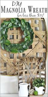 decor best faux magnolia wreath ideas with small green leaf