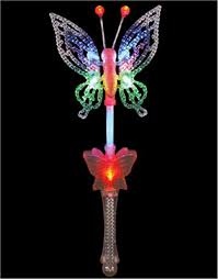 light up princess wand amazon com fairytale princess toy costume led butterfly wand toys