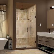 40 Shower Door Dreamline Unidoor Plus 40 To 40 1 2 In X 72 In Frameless Hinged