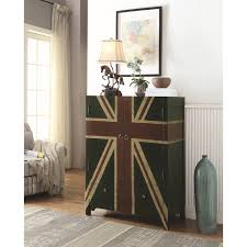 Accent Cabinets by Accent Cabinet With British Flag Design By Coaster Wolf And
