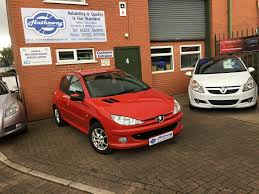 peugeot 206 2007 2007 u002757 u0027 peugeot 206 1 4 look petrol red manual 71 000 miles