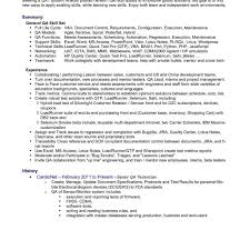 Sqa Resume Sample Qa Template Eliolera Com