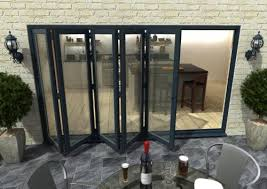 Bifolding Patio Doors 3600mm 12ft 5 Door Grey Aluminium Bi Folding Patio Doors